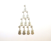 Set of Ten (10) Pewter Electric Guitar Charms