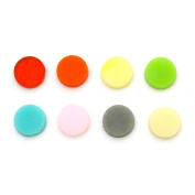 1.3cm Circle Rainbow Assortment Fusible Pre-Cut 8 Pack - 90 COE