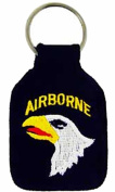U.S. ARMY 101ST AIRBORNE SCREAMING EAGLES KEY CHAIN - Multi-Coloured - Veteran Owned Business