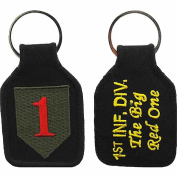 U.S. ARMY 1ST INFANTRY DIVISION THE BIG RED ONE KEY CHAIN - Multi-Coloured - Veteran Owned Business