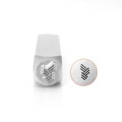ImpressArt- Vertical Angled Line Texture Metal Stamp, 6mm