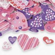 100 ~ Fabulous Foam Valentine Heart Shape Stickers ~ New