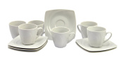 Set of 6 Coffee Cups with Saucers Celebration