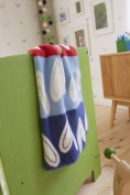 Blanket Hearts, organic cotton 75x100 cm