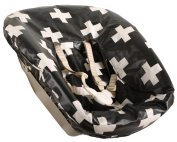 Ukje cover for newborn set Stokke TrippTrapp - Black/white cross - COATED