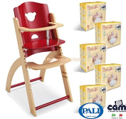 Pali Highchair Pappy Re Amarena + 100 Cam Nappies Size 3 Midi 4 - 9 kg