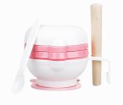Practical Baby Food Grinding Bowl Grinder Food Mill for Making Baby Food, Pink