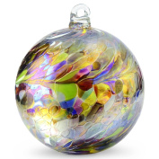 Friendship Ball Multicolor 10cm Kugel Iridized Witch Ball by Iron Art Glass Designs