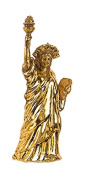 One Hundred 80 Degrees Metallic Gold Silver Statue of Liberty Hanging Ornament