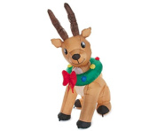 Inflatable Animated Reindeer Lighted with Wreath - 1.8m Tall