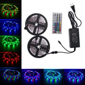 LED Strip Lights Kit, Paymenow 10M RGB 3528 SMD 600LED Flexible Light Strip Lamp String lights with 44Key IR Remote Controller and 12V 5A Power Supply for Home, Christmas Party Decoration