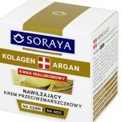 Soraya Collagen Argan Hyaluronic Acid Day Night Face Cream Moisture Anti Wrinkle