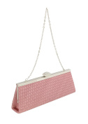 Scheilan Rose Fabric Weave Clutch/Shoulder Bag