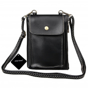 xhorizon TM SR Classic PU Leather Mini Crossbody Single Shoulder Bag Cellphone Pouch for iPhone 7plus/7/6plus/6, Samsung S6/S6edge/S7/S7edge, and other NO More Than 14cm