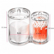 Acrylic Makeup Storage Cosmetic Organisers Clear Make Up Case Cotton Ball & Swab Holder
