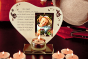 Her Smile Memorial Poem & Photo Candle Holder by Memorial