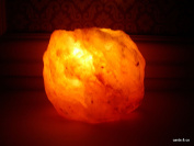 Natual Himalayan Salt Rock Crystal Tealight Candle Holder Healing Reiki Ionising
