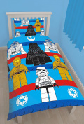 Lego Star Wars Sides Single Duvet Cover Polycotton Bed Set