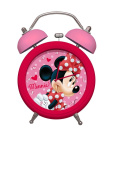 BELL ALARM CLOCK CHILD MINNIE MOUSE FUSHIA