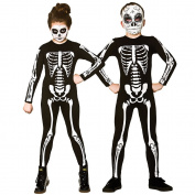 Kids Unisex Skeleton Jumpsuit Halloween Fancy Dress