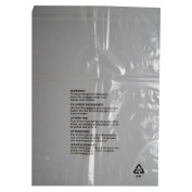 """25 CLEAR TRANSPARENT PLASTIC SELF SEAL GARMENT CLOTHING RETAIL PACKAGING BAGS WITH SAFETY WARNING - LARGE SIZE 12 x 15"""" 300 x 380mm 38mu STRENGTH - PEEL & SEAL SEE THROUGH POLYPROPYLENE CLOTHES SHIRT T-SHIRT STORAGE PROTECTION DISPLAY POSTAL PACKING PO .."""