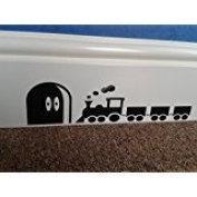 """Mouse Hole """" Large Thomas the Train """" Skirting Board Wall Art Sticker Vinyl Decal """" 25cm x 6cm high ..UKSELLINGSUPPLIERS"""