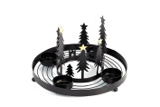 Heitmann Deco 91248 Metal Advent Wreath Candle Holder, Black/Anthracite, 20 x 20 x 13 cm