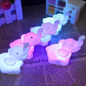 Cute Animal Elephant LED Night Light 7 Colour Changing Romantic Lamp with Battery Party Bedroom D¨¦cor 2Pcs