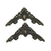 Fujiyuan 20pcs 40mm Jewellery Retro Art box Gift Cases Scrapbook Album Corner Decorative Protector Craft Bronze