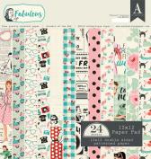 Authentique Paper FAB018 Fabulous 30cm x 30cm Paper Pad