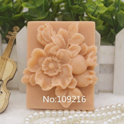 Creativemoldstore 1pcs Pomegranate & Flower (zx378) Silicone Handmade Soap Mould Crafts DIY Mould
