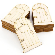 ROSENICE 25pcs Elf Door Wooden Fairy Door Fairy Ornament for DIY Craft Decoration