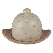 Better & Best 2891305 - Ceramic beige coloured round butter tray