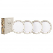 Denby Natural Canvas Dinner Plate Set, Cream, Set of 4