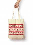 Christmas Jumper Pattern - Canvas Tote Bag