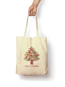 Merry Christmas Tree - Canvas Tote Bag