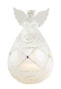 Transpac Large 14cm Glass Light Up Angel