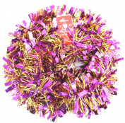 UNI -- Gold Garland with Metallic Purple Strips --200cm -- Holiday Decor