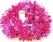 UNI -- Metallic Pink Garland with Pink Strips --200cm -- Holiday Decor