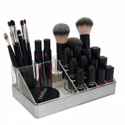 OnDisplay Annie Deluxe Acrylic Cosmetic/Jewellery Organisation Tray - Silver