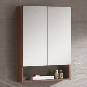 Fine Fixtures GRM24BW Greenpoint Medicine Cabinet, 60cm , Black Walnut