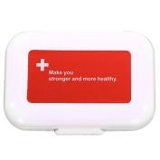 Zeroyoyo 8 Slots Pill Box Medicine Holder Organiser Dispenser Storage Case Container