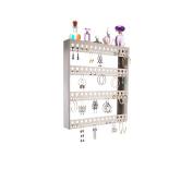 Wall Earring Holder Organiser Jewellery Storage Closet Organiser w/Perfume Tray