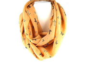 J & C Family Owned Multi Cross Theme Fashion Scarf Colour