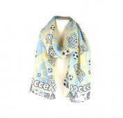 J & C Family Owned Soccer Theme Fashion Scarf Colour