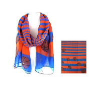 J & C Family Owned Basketball Theme Fashion Scarf Colour