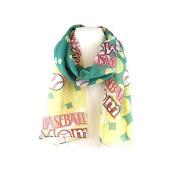 J & C Family Owned Baseball Theme Fashion Scarf Colour