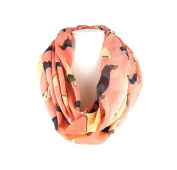 J & C Family Owned Dog Theme Fashion Scarf Colour