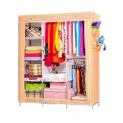 Nex® Portable Storage Organiser Wardrobe Closet & Shoe Rack Assemble Easy 180cm x 130cm x 44cm , 0.4cbm