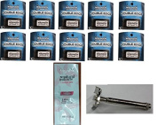 Offbrand Double Edge Safety Razor + Wilkinson Sword Double Edge Razor Blades, 10 ct. (Pack of 10) with FREE Loving Colour trial size conditioner
